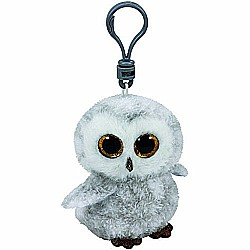Ty Beanie Boos Owlette the White/Gray Owl - Clip