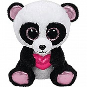 Ty Beanie Boos Cutie Pie The Panda with Heart Plush