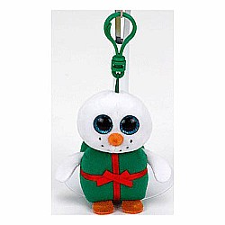 "Ty Baby Beanies Shivers Chirstmas Snowman 3"" Clip"