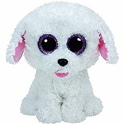 Ty Pippie Dog Plush, White, Regular