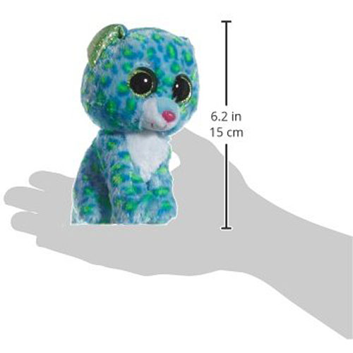 7c231563665 Ty Beanie Boos Leona Blue Leopard Regular Plush - Quinnderella  039 ...