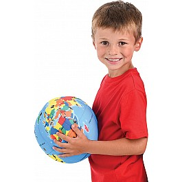 "8"" Plush Printed Globe Ball"