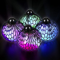 "3"" Light-Up Mesh Ssqueeze Glitter Ball"