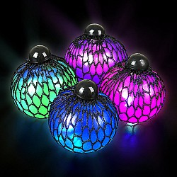 Light-Up Mesh Squeeze Jelly  Ball