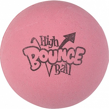 "2.5"" Rubber Pink High Bounce Ball"