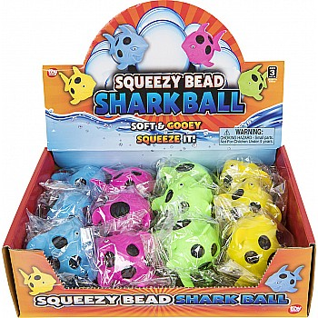 "3.5"" Squeezy Bead Shark Ball"