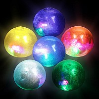 "2.5"" Light-Up Galaxy Squeeze Ball"