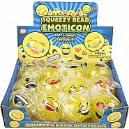 "2.25"" Squeezy Bead Emoticon Ball"