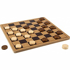 "10"" Wooden Checkers"