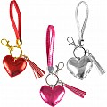 "2.25"" Heart And Tassel Wristlet With Clip On"