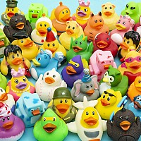 "2"" Rubber Ducky Assortment 50Pcs/Case"