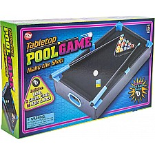 "20.5""X12.5"" Neon Wooden Tabletop Pool Game"