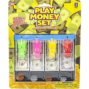 "7"" Play Money Set With Cash Drawer"