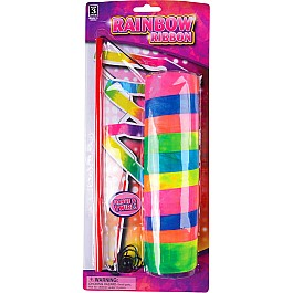 "11.75"" Rainbow Ribbon Wand"
