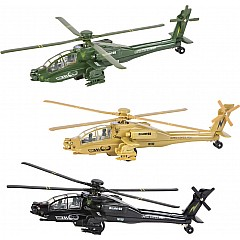 "8"" Die Cast Pullback Apache Helicopter"