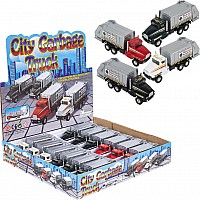 "6"" Die Cast Pull Back Sanitation Truck"