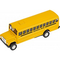"5"" Die Cast Pull Back School Bus"