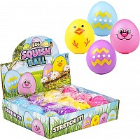 "2.33"" Squeeze And Stretch Gummi Easter Egg"