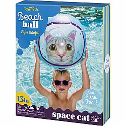 Space Cat Beach Ball