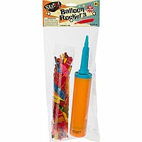 40Pc Rocket Balloon W/Pump