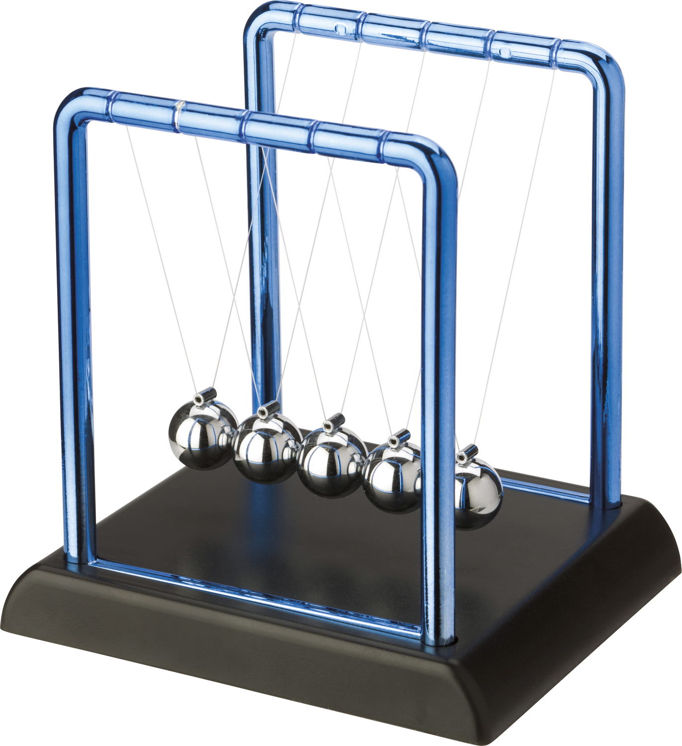 newtons cradle Imagine raising the ball on one end of a newton's cradle upon release and the  subsequent collision, the ball at the other end of the device flips.