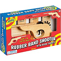 Rubber Band Shooter With Wood Targets
