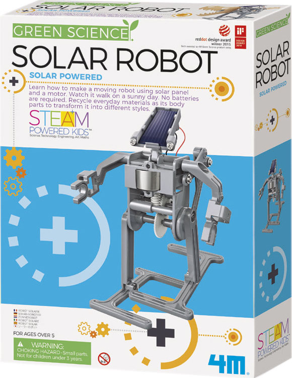 Solar robot toysmith for How to build a solar panel for kids