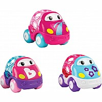 Go Grippers 3Pk Pink Vehicles