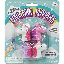 Mini Prancing Unicorn Finger Puppets