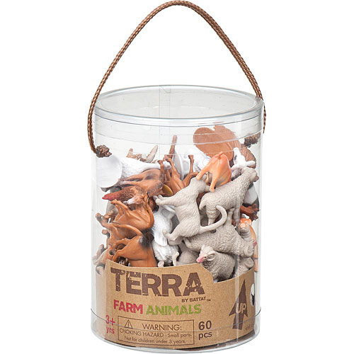 Terra Farm Animals In Tube - Kremer's Toy And Hobby