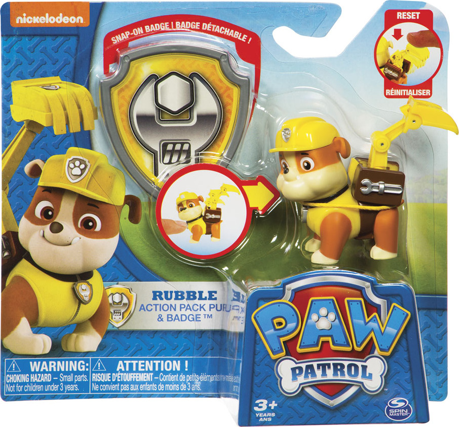 PAW Patrol Action Pack Character & Badge - Fun Stuff Toys