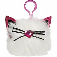 KITTY HAIRBALL POM CLIP