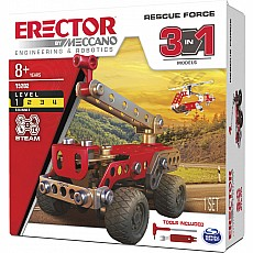 Erector by Meccano Rescue Force 3 in 1 Model Set
