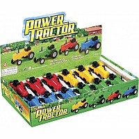 Diecase Pullback Tractor, 1 each, color may vary