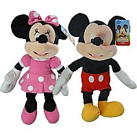 "Disney Mickey & Minnie 15.5"" Plush Asstd."