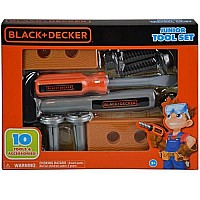 Jakks- Black & Decker Tool Set 10 pcs in open box