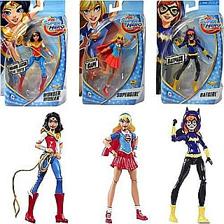 "Mattel DDC DCSHG 6"" Action Figs Asst"