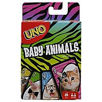 Mattel DP UNO Baby Animals Card Game