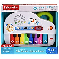 Fisher-Price Laugh & Learn Silly Sounds Light-up Piano in open box