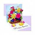 Easter Greeting Card - Easter Spring Bouquet Pop-Up