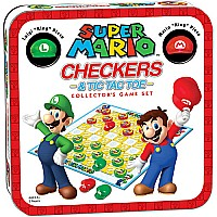 Super Mario - CHECKERS/TIC TAC TOE COMBO