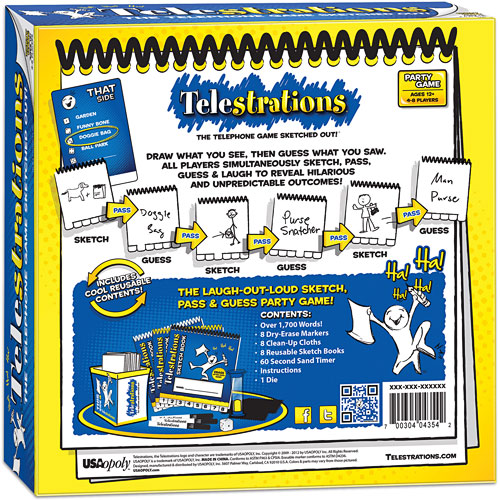 Telestrations 8 Player The Original Party Game Playthings Aplenty