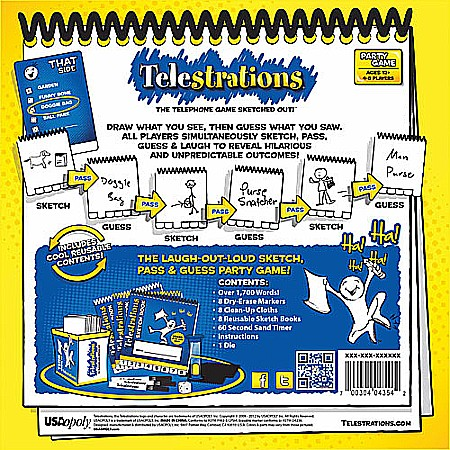 Telestrations 8 Player The Original Givens Books And Little Dickens