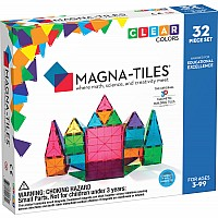 Magna tiles Clear Colors 32 Piece Set