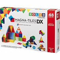 Magna-Tiles™ Solid Colors 48 Piece DX Set