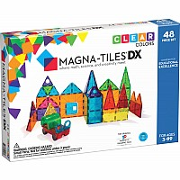 MagnaTiles Clear Colors 48 Piece DX Set