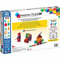 48pc DX Magna Tiles Clear Colors