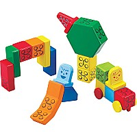 People Blocks Solid Colors 31 Piece Set