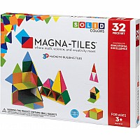 Magna-Tiles Solid Colors 32 Piece Set