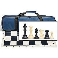 Tournament Chess Set With Royal Blue Bag